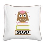 2030 Graduation Class Owl Square Canvas Pillow