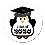 Little Class of 2030 penguin.png Round Car Magnet