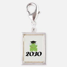 Class Of 2030 Frog Silver Portrait Charm