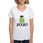 Class Of 2030 Frog Women's V-Neck T-Shirt