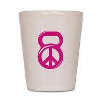 Peace Kettlebell Shot Glass