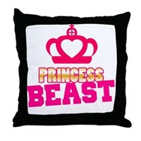 Princess Beast Throw Pillow