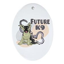 Future K9 Oval Ornament