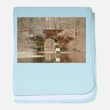 An Arched Stone Bridge baby blanket
