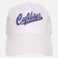 Cubbies Baseball Script in Blue Camo Baseball Baseball Cap