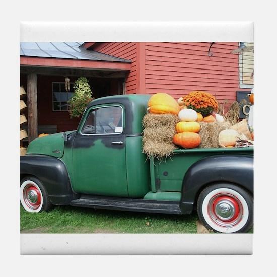 Antique Truck Tile Coaster