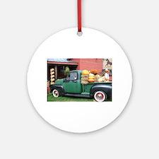 Antique Truck Round Ornament