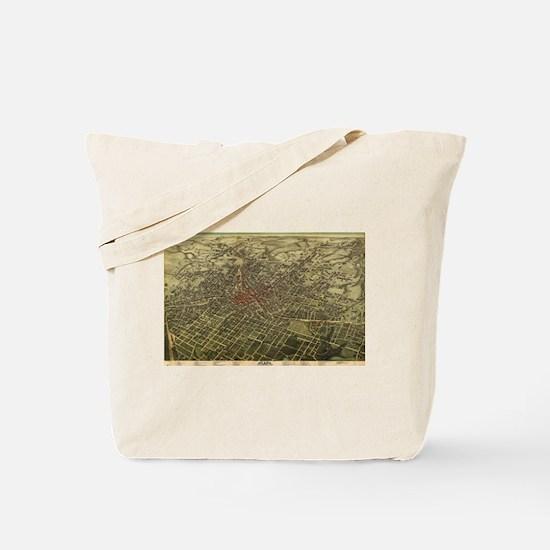 Vintage Map of Atlanta (1892) Tote Bag