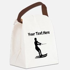 Water Skier Silhouette Canvas Lunch Bag