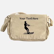 Water Skier Silhouette Messenger Bag