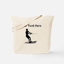 Water Skier Silhouette Tote Bag