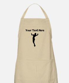 Volleyball Serve Silhouette Apron