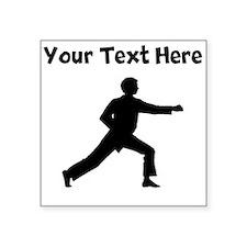 Karate Punch Silhouette Sticker
