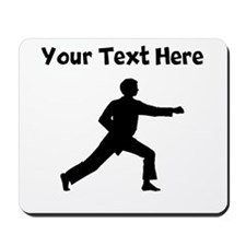 Karate Punch Silhouette Mousepad