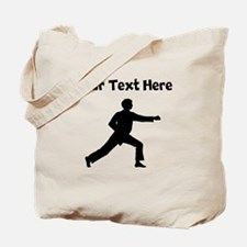 Karate Punch Silhouette Tote Bag