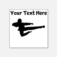 Jump Kick Silhouette Sticker