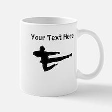 Jump Kick Silhouette Mugs