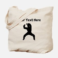 Martial Artist Silhouette Tote Bag