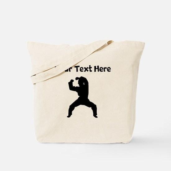 Martial Artist Silhouette Tote Bag