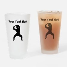 Martial Artist Silhouette Drinking Glass
