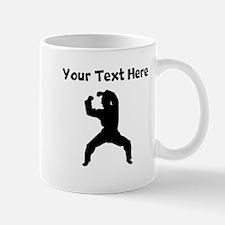 Martial Artist Silhouette Mugs