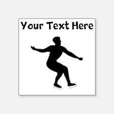 Figure Skate Silhouette Sticker