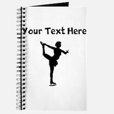 Figure Skate Silhouette Journal
