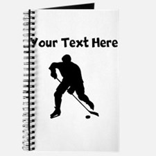 Hockey Player Silhouette Journal