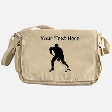 Hockey Player Silhouette Messenger Bag