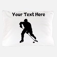 Hockey Player Silhouette Pillow Case