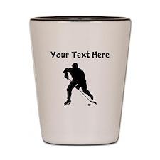 Hockey Player Silhouette Shot Glass