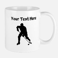 Hockey Player Silhouette Mugs
