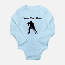 Hockey Player Silhouette Body Suit