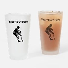 Hockey Player Drinking Glass