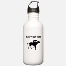 Horse Racing Silhouette Water Bottle