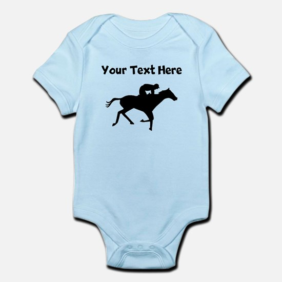 Horse Racing Silhouette Body Suit