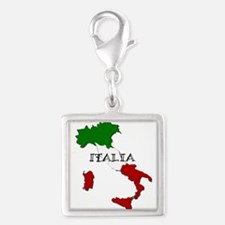 Italy Flag Map Charms