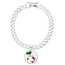 Italy Flag Map Bracelet