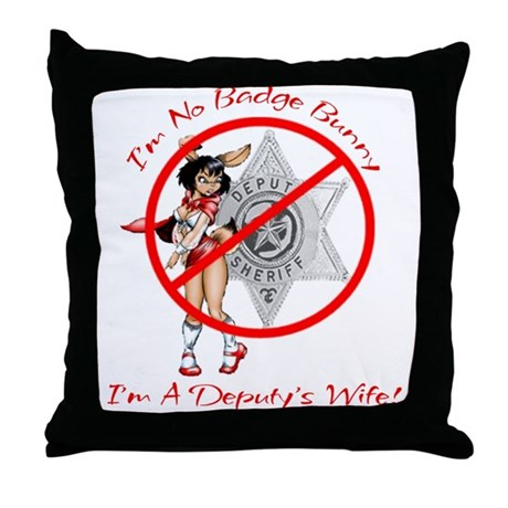 No Bunny Deputy Throw Pillow