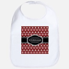 Black and Red Pattern Personalized Bib