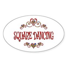 Square Dancing Hearts Decal