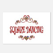 Square Dancing Hearts Postcards (Package of 8)