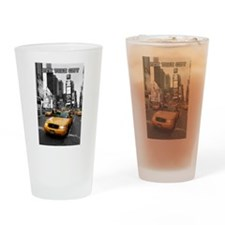 Times Square New York City - Pro ph Drinking Glass