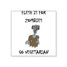 """Cute Vegetarian Square Sticker 3"""" x 3"""""""