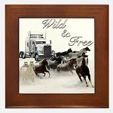 Wild & Free Framed Tile