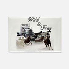 Wild & Free Rectangle Magnet