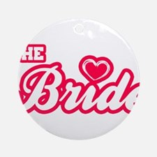 The Bride Round Ornament