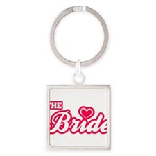 The Bride Square Keychain