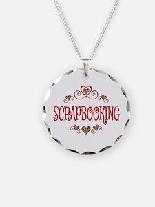 Scrapbooking Hearts Necklace