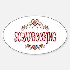 Scrapbooking Hearts Decal